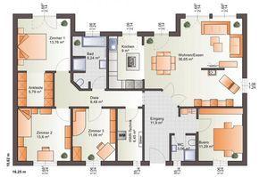 ▷ extrem cooler Grundriss für einen Bungalow. Bärenhaus Bungalow One 139