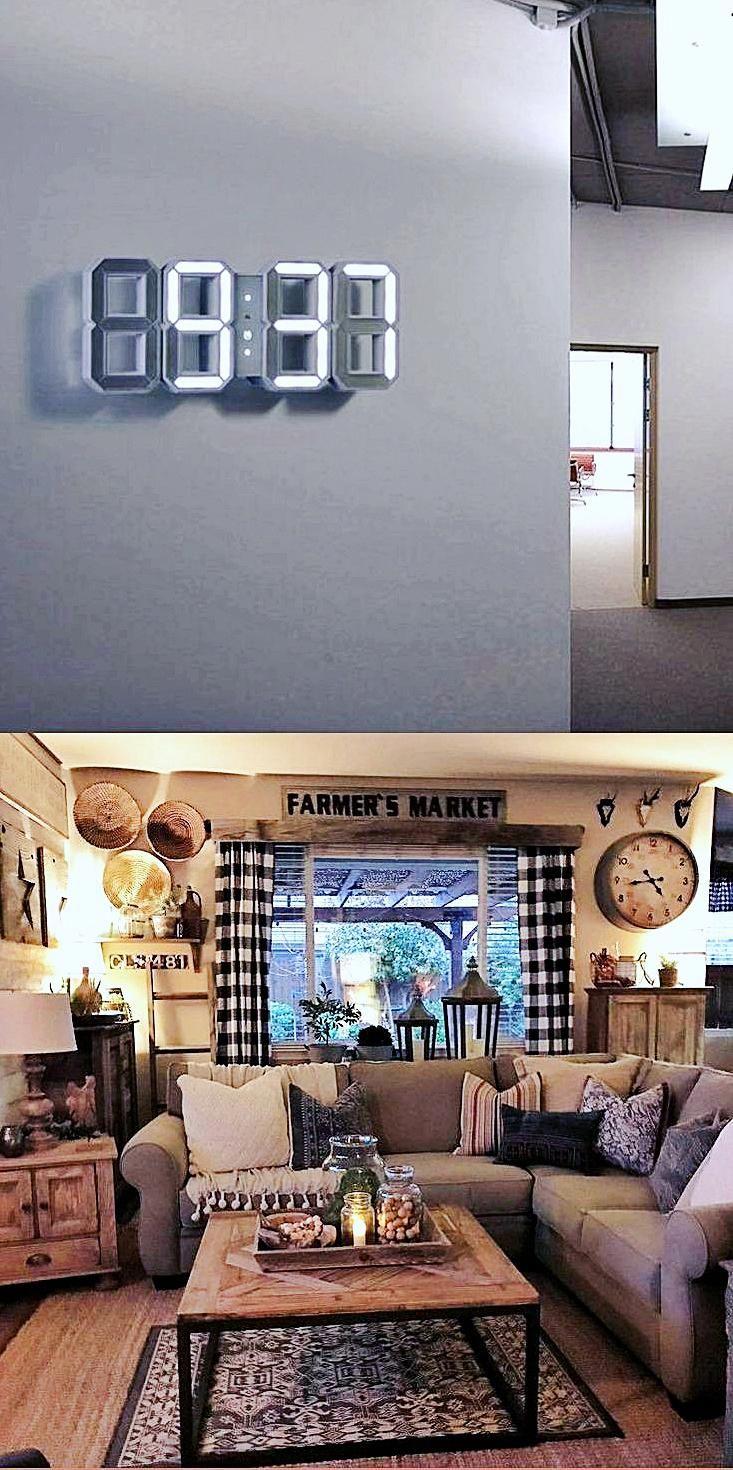 Decorative Wall Clocks For Living Room Electric Wall Clock Large Wall Clock Decor Diy Living Room Decor Living Room Colors