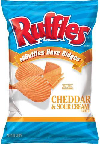 RUFFLES® Cheddar & Sour Cream Flavored Potato Chips