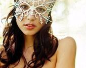 Silver Snowflake Mask