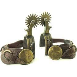 Unmarked Drop Shank Cowboy Spurs