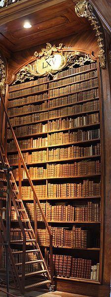 Cannot get enough of these bookcases that are so big that you need a ladder to get to all of your books.