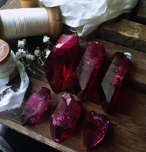 The Witch Is In Ruby Aura Quartz Minerals Amp Crystals