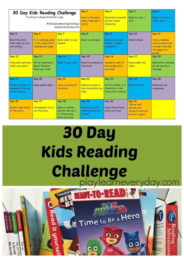 A fun and simple to follow way to motivate children to read every day for a month!