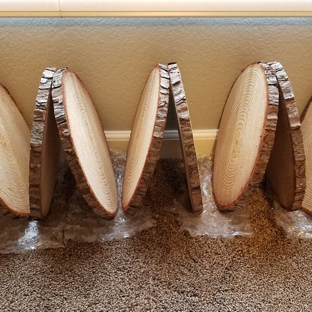 Set Of 12 10 Inch Tree Slices For Centerpieces Tree Slices For Tables Wood Discs Wood Slice Centerpieces Wedding Table Decor In 2020 Wood Centerpieces Wood Slices Wedding Wood Slice Centerpieces