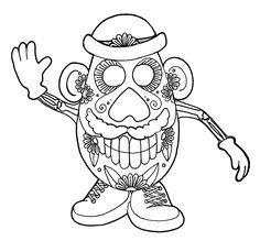 49 best coloring pages images on Pinterest  Sugar skulls