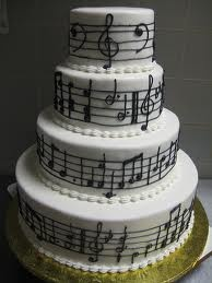 Music Wedding Cake!