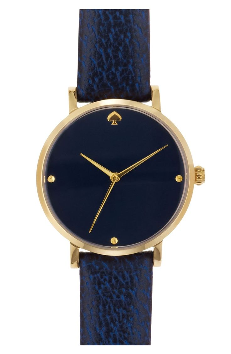 kate spade new york 'metro' leather strap watch