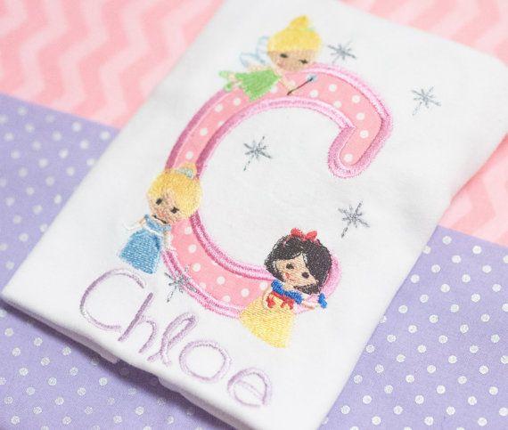 Girls Princess Shirt Disney Shirt Frozen Cinderella Ariel Belle Customizable Shirt
