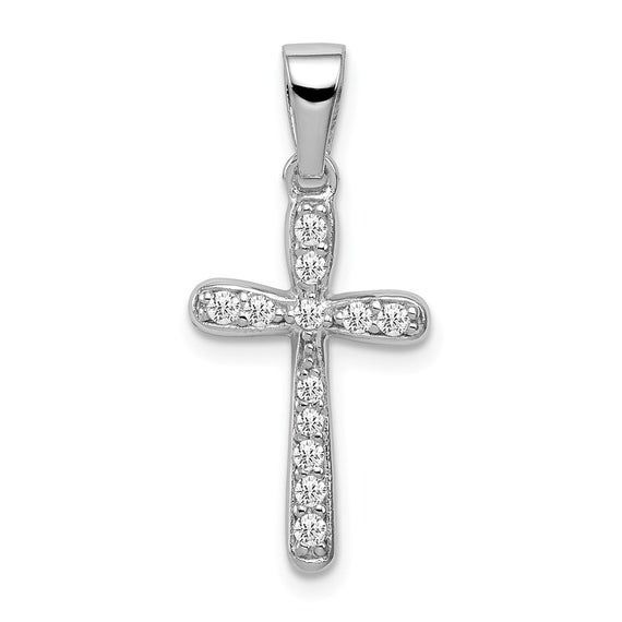 925 Sterling Silver Rhodium-Plated Dad Polished Charm Pendant