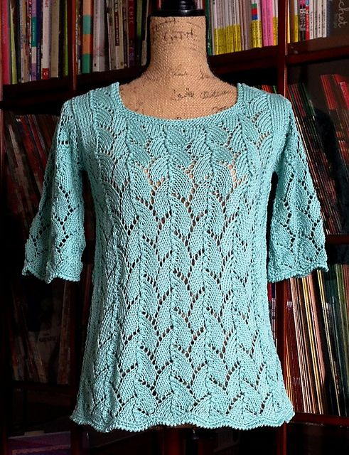 Knitting Patterns Shell Lace : Ravelry: Shell Lace Pullover pattern by Avelina Carmona ...