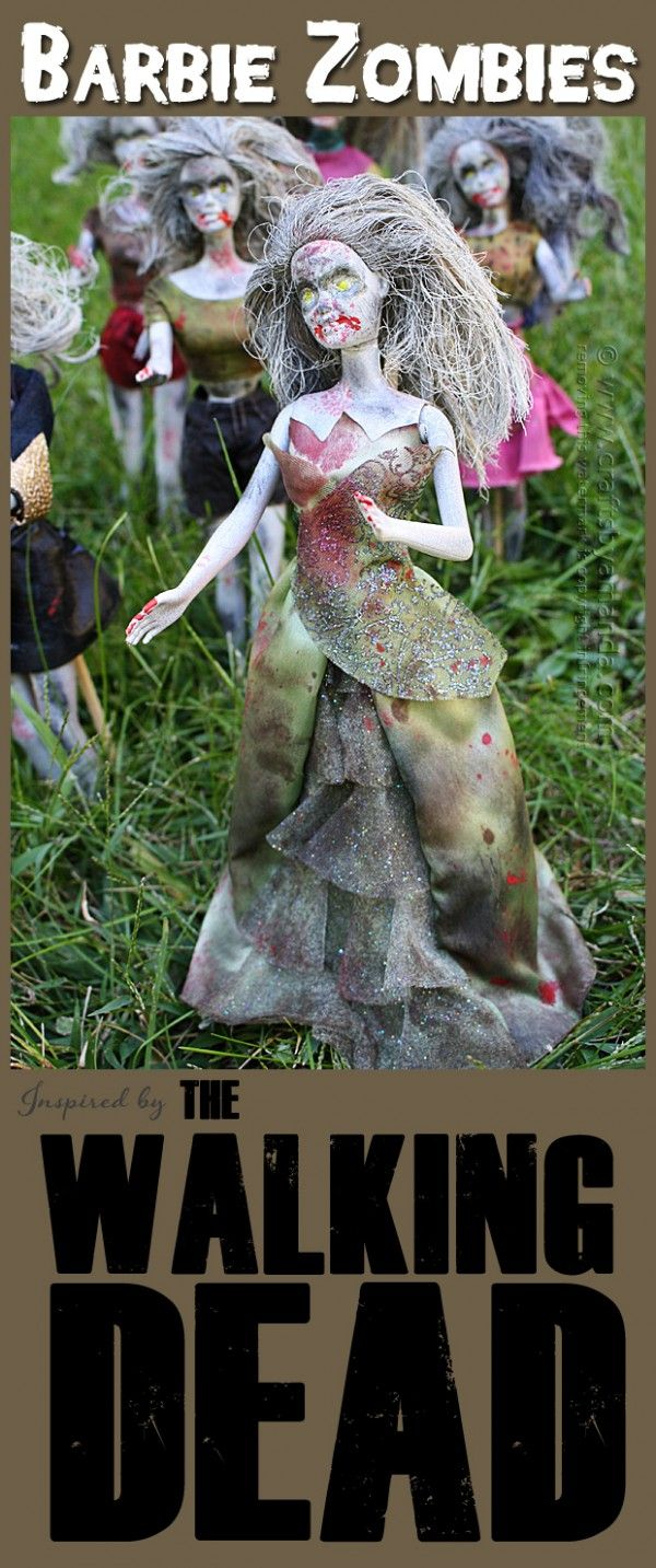 air tn Barbie Zombies  Inspired by The Walking Dead   by Amanda Formaro of Crafts by Amanda
