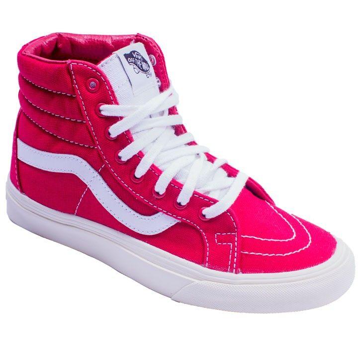 Tenis-Vans-feminino-em-rosa-alto