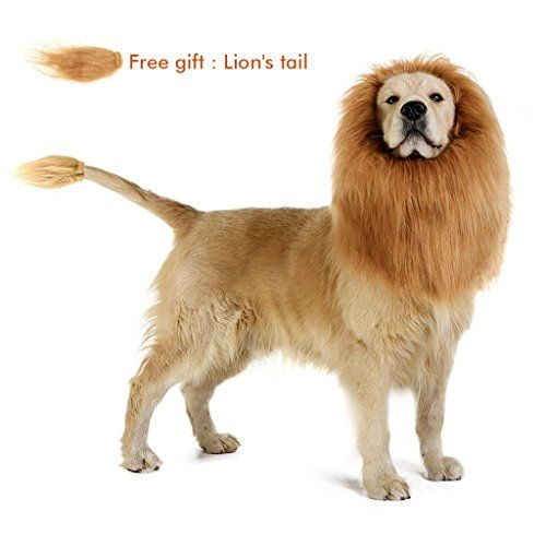 Airsspu Lion Mane for Dog – Dog Costume Lion Wig for Large or Medium Dogs – Christmas Lion Mane Wig Costume – Free Lion Tail – nerd junkie i20