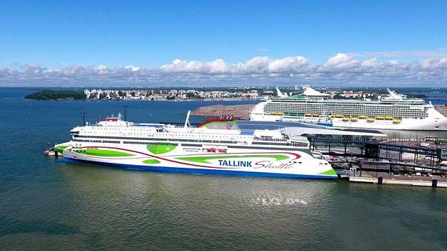 Tallink Megastar Helsingin Länsisatamassa 4. heinäkuuta.