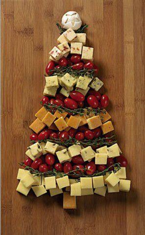 ¿Te tocó ser anfitrión de las fiestas de fin de año? Sorprende a todos tus invitados con estas botanas en forma de pino. botanas_arbol_navidad_pinterest.jpg
