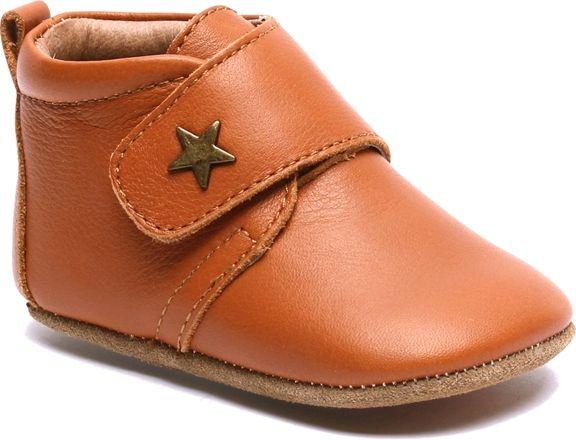 Bisgaard Velcro Star Tofflor, Cognac 18