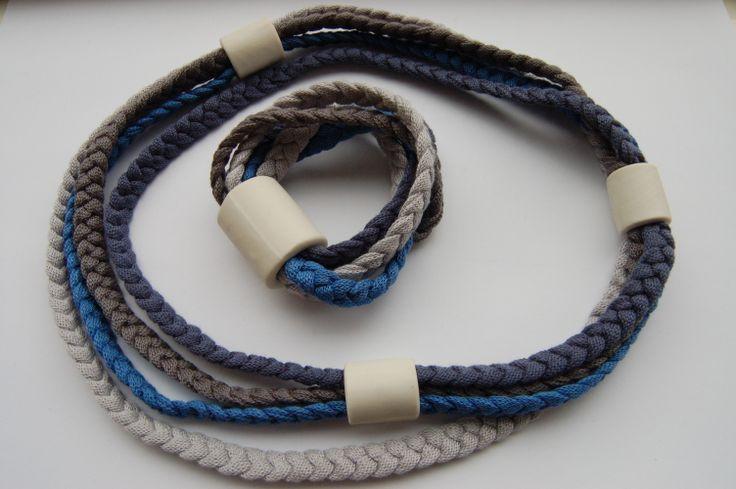 Cotton and ceramics bracelets and necklaces - www.scicche.it