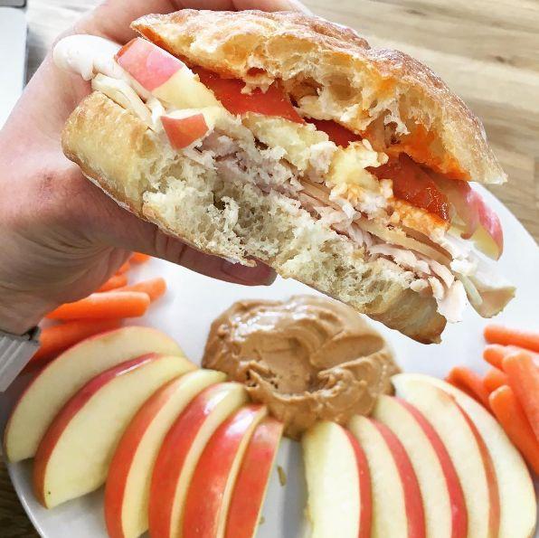 Turkey, Apple, Cheddar, and Cheese Sandwich