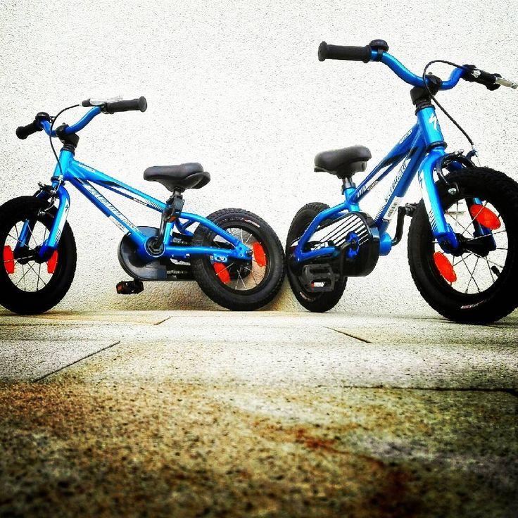 sie werden soooo schnell groß 😍  #specialized #hotrock #12zoll #twins #karlsruhe #mtb #mountainbike #karlsruhetweets #igerskarlsruhe #bicycle #fahrrad #huaweip8lite #blue #downhill #birthdaygift #bikes #velo #fixie