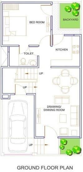 Duplex Floor Plans | Indian Duplex House Design | Duplex House Map