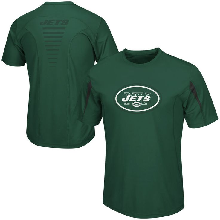 New York Jets Majestic Fanfare VII Synthetic Cool Base T-Shirt – Green