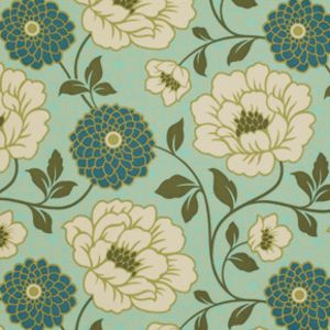 Joel Dewberry - Bungalow Home Dec Sateen - Dahlia in Forest Manufacturer: Westminster / Free Spirit (SAJD021.Fores) Designer: Joel Dewberry Collection: Bungalow Home Dec Sateen Print Name: Dahlia in Forest   Weight / Material / Width: Home Decor, Cotton Sateen, 54 inches