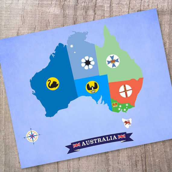 Australia Map design made with States and by thepixelprince, $20.00