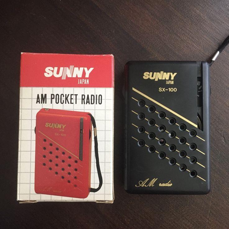 Vintage 1980s Sunny SX100 Transistor AM Pocket Radio