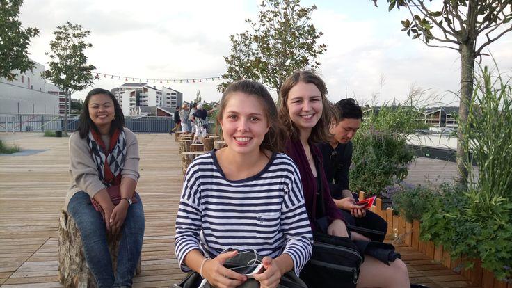 Etudiants du CIDEF en visite au théâtre Le Quai à Angers