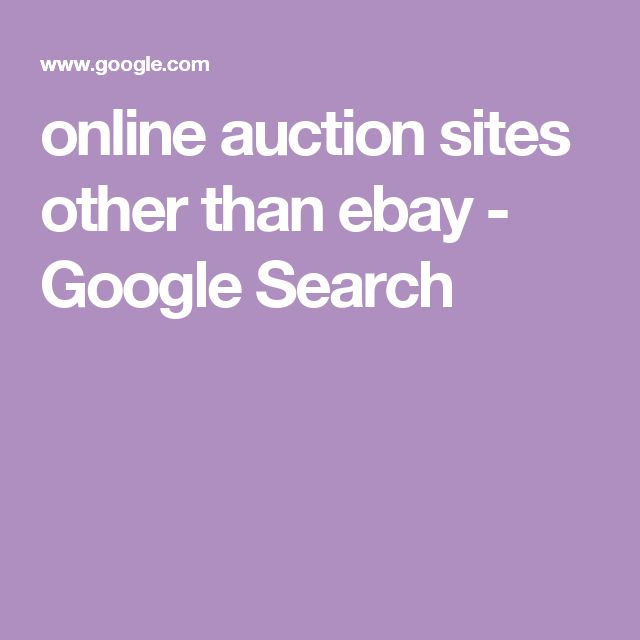 online auction sites other than ebay - Google Search