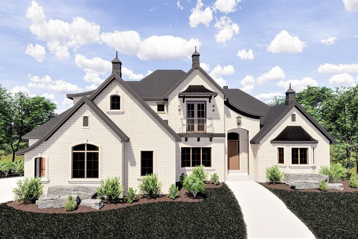 Plan 290061iy Graceful European House Plan In 2020 Craftsman Style House Plans Luxury House Plans European House