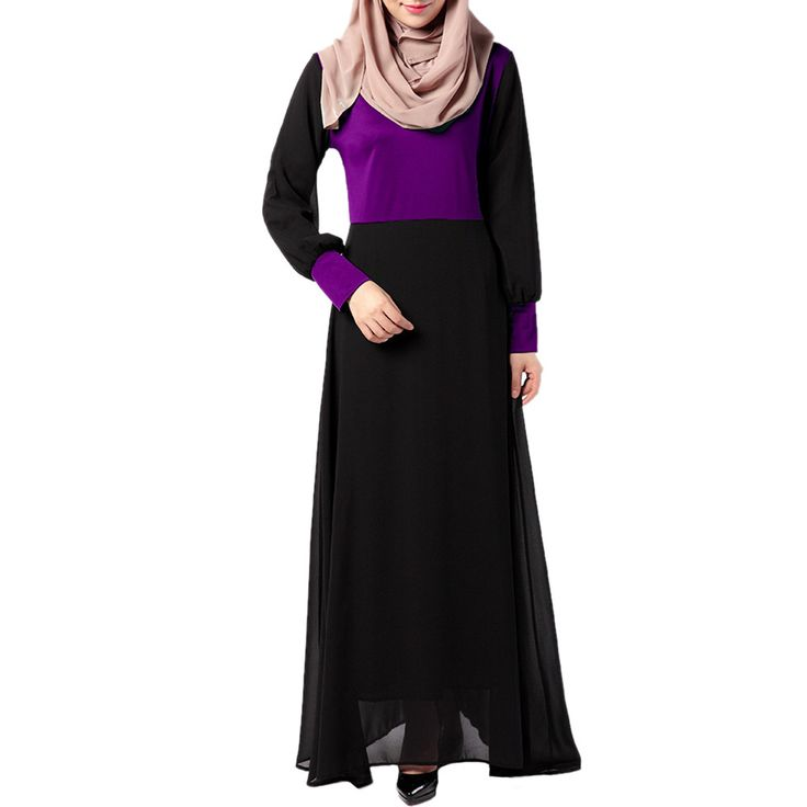 Middle East Muslim Dress National Garments purple M