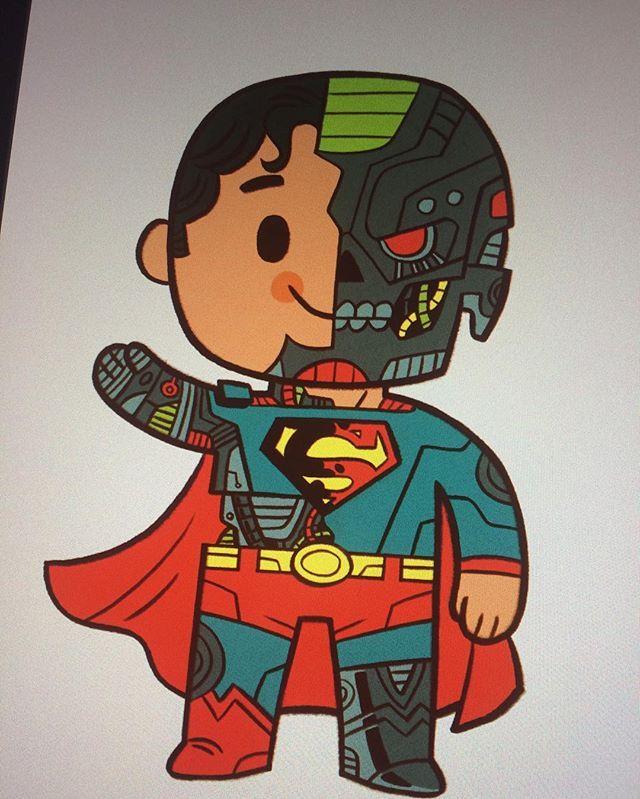 I Love Drawing Cyborg Superman. #superman #robot #dccomics