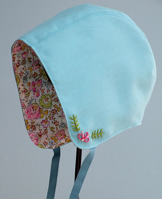 Posie: Rosy Little Things — Storybook Woods Baby Bonnet Sewing Pattern 6$