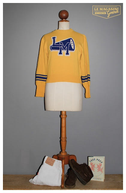 vintage cheerleader sweater  (c)http://www.le-magasin-general.com/