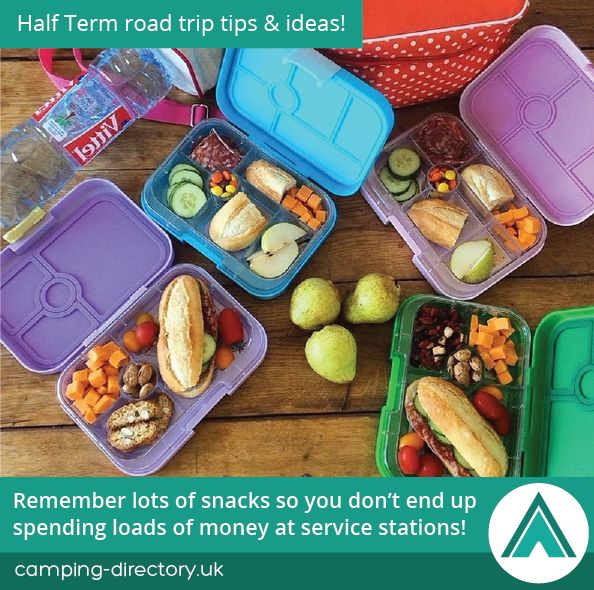 Remember lots of snacks so you don't end up spending loads of money at service stations! Road Trip. Camping Tips. Holiday. Travel. Half Term. UK. Ireland.