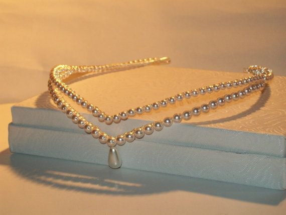 Handmade pearl double wedding bridal / by HelenCurtisTiaras