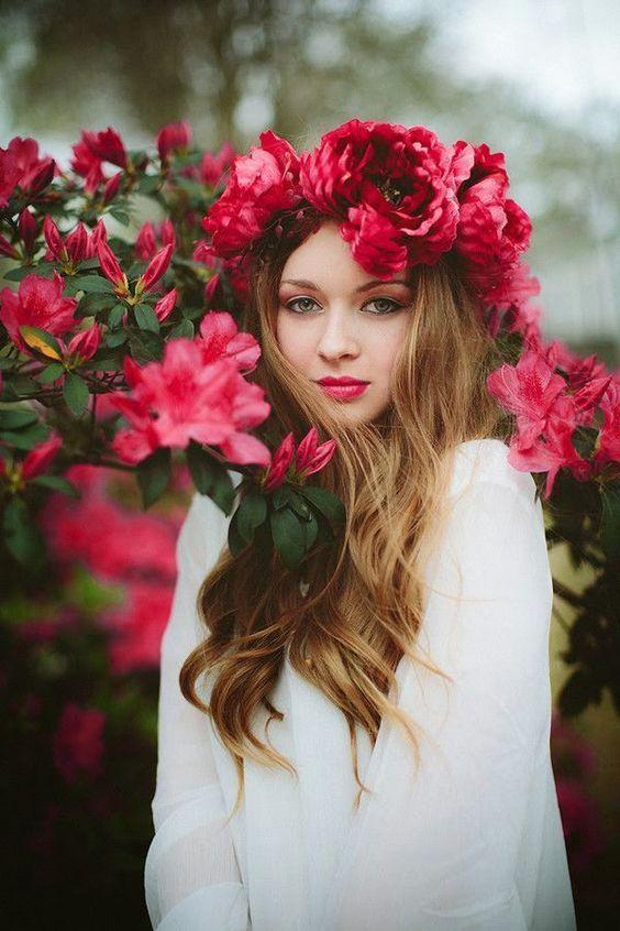Картинка, картинки фото девушки с цветами