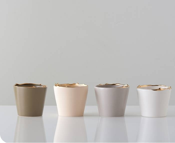 Flawed Gold-Plated Set of Cups