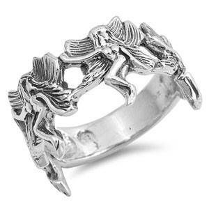 Fairy Ring // Silver Fairy Ring // 925 Sterling Silver // Hand Cast // Sterling Fairy Ring // Fantasy Jewelry Weight: 4-5 grams Band Width: 5mm Nickel Free Silver Hallmark 925