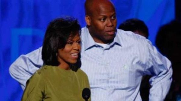 The basketball coaching job of craig robinson, michelle obama's brother, was saved by the hasty procurement of $17 million in stimulus funds?. Description from streetartisdead.com. I searched for this on bing.com/images