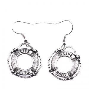 Life ring earrings