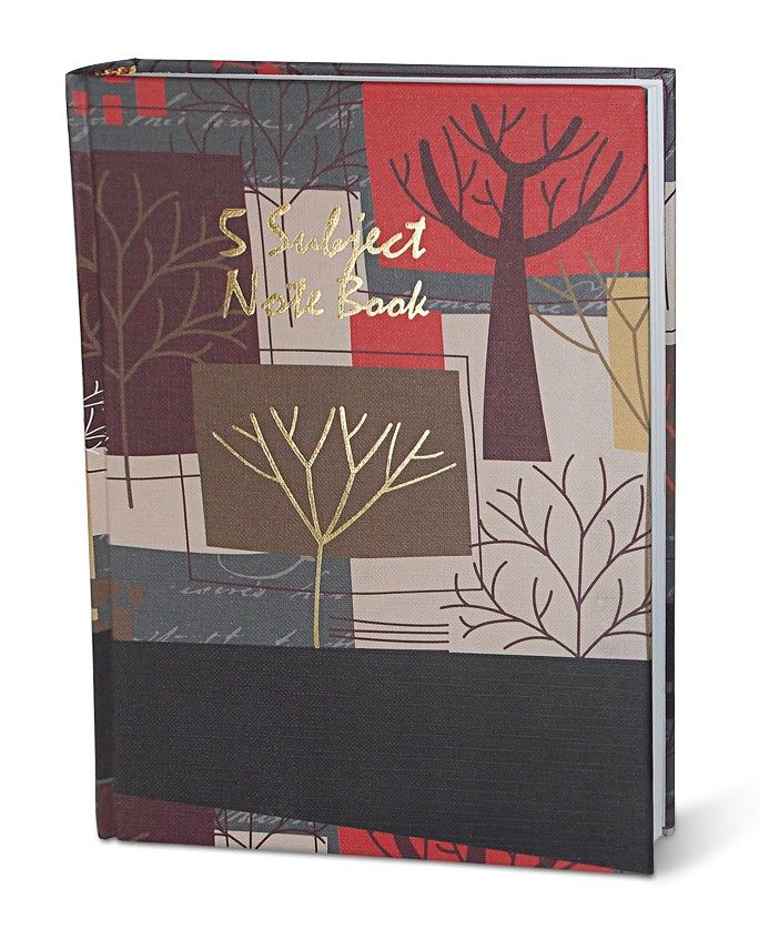 School Notebook Designs - This inscribe 5 subject notebook in beautiful leaf design gives the appearance of a personal notebook. The ruled notebook is best as school and office supply.