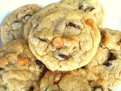 """Liberty Square Cookies - chocolate and butterscotch chips. WARNING, this recipe makes """"the best dough ever"""" My mother and I made these tonight. The recipe said that they make 6 dozen. When we used our smaller cookie scoop we ended up with 13 dozen. We ended up freezing more than half of it. This recipe makes a lot of dough...more than a kitchen aid mixer can handle. They are delicious!!"""
