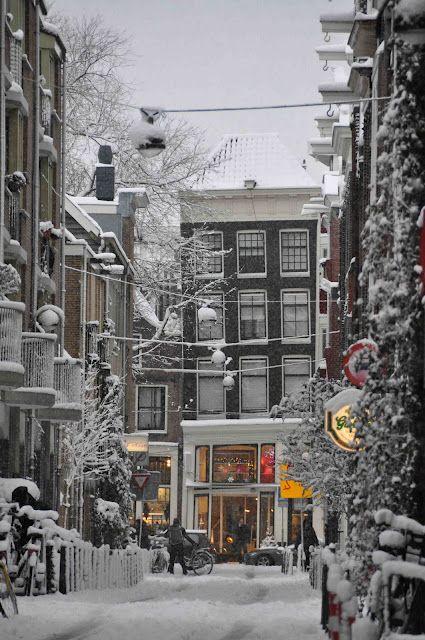 Europe: Amsterdam in Winter.