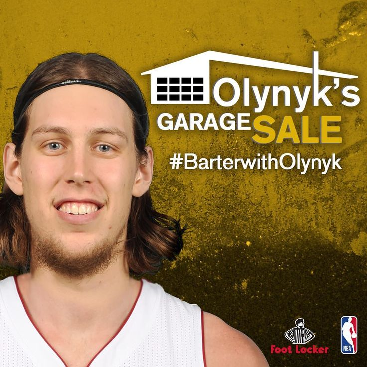 Kelly Olynyk is having a GARAGE SALE at #houseofhoops TODAY at 4pm/et. Come #BarterWithOlynyk for his items before he moves to Miami! 📍247 Yonge St, Toronto