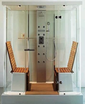 aromatherapy, chromatherapy, steam room, shower