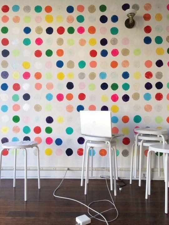 DIY Home Decor: 5 Hand Stamped Statement Walls