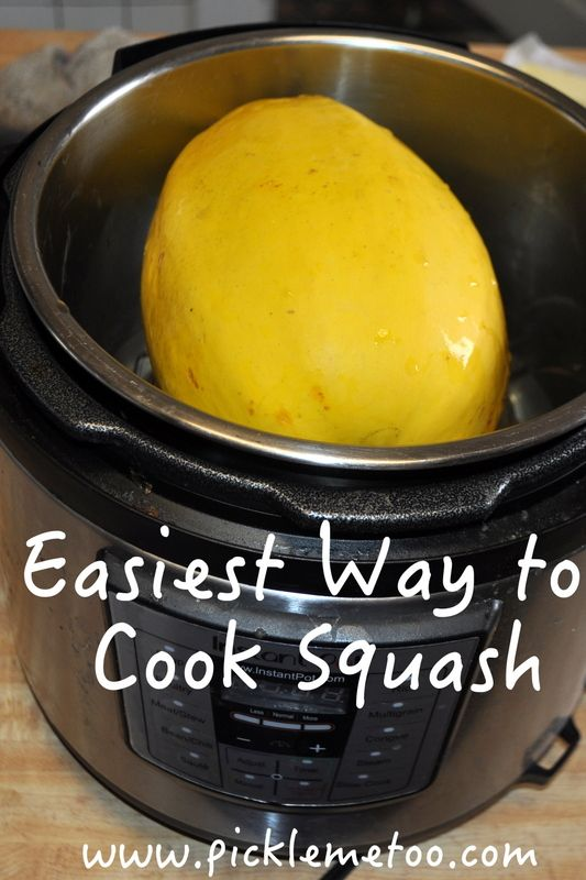 The easiest way to cook squash, whole and in a pressure cooker.